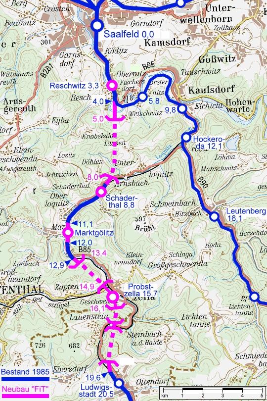 karte der ice-neubaustrecke berlin-nürnberg FiT   Das Streckennetz